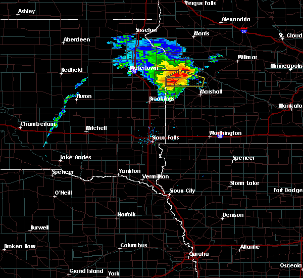 Radar Image for Severe Thunderstorms near Clarkfield, MN at 8/8/2020 12:56 PM CDT