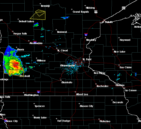 Radar Image for Severe Thunderstorms near Milroy, MN at 8/8/2020 1:17 PM CDT