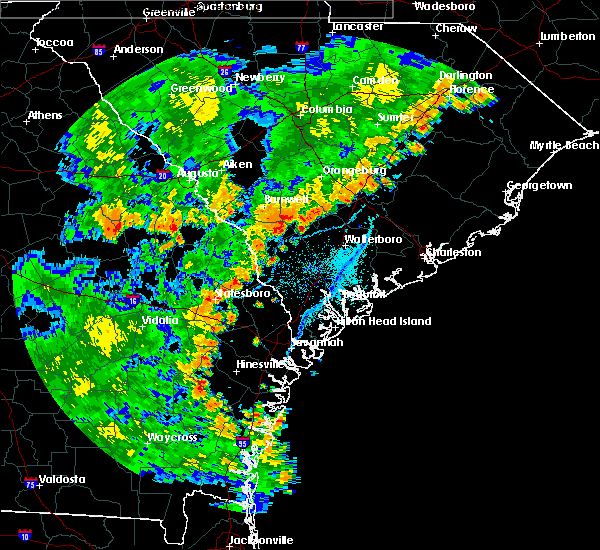 Radar Image for Severe Thunderstorms near Moncks Corner, SC at 7/2/2015 6:31 PM EDT