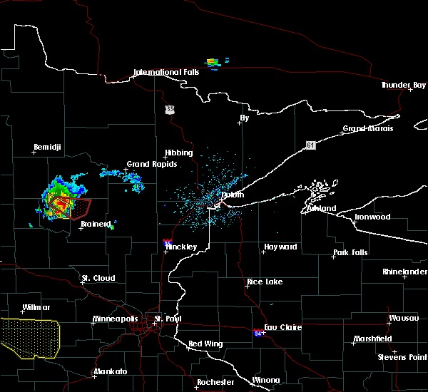 Radar Image for Severe Thunderstorms near Pequot Lakes, MN at 8/8/2020 2:16 PM CDT
