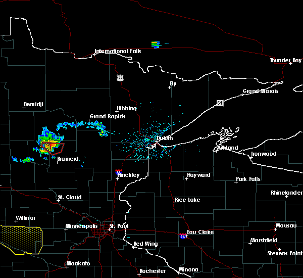 Radar Image for Severe Thunderstorms near Breezy Point, MN at 8/8/2020 2:23 PM CDT