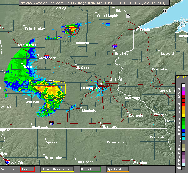 Radar Image for Severe Thunderstorms near Green Isle, MN at 8/8/2020 2:31 PM CDT