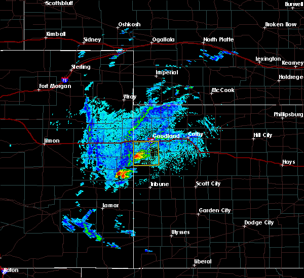 Radar Image for Severe Thunderstorms near Wallace, KS at 8/8/2020 3:51 PM MDT