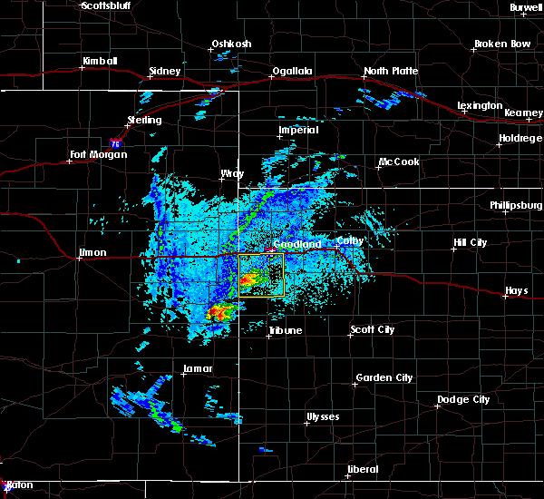 Radar Image for Severe Thunderstorms near Goodland, KS at 8/8/2020 3:51 PM MDT
