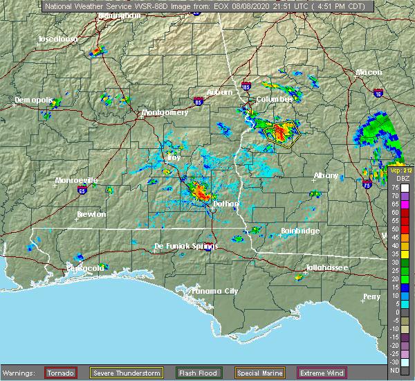 Radar Image for Severe Thunderstorms near Richland, GA at 8/8/2020 5:56 PM EDT