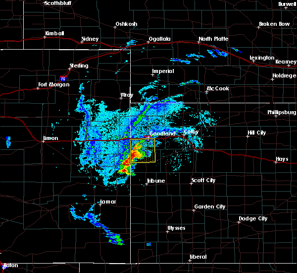 Radar Image for Severe Thunderstorms near Wallace, KS at 8/8/2020 4:16 PM MDT