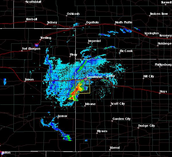 Radar Image for Severe Thunderstorms near Goodland, KS at 8/8/2020 4:16 PM MDT