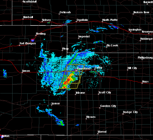 Radar Image for Severe Thunderstorms near Goodland, KS at 8/8/2020 4:22 PM MDT