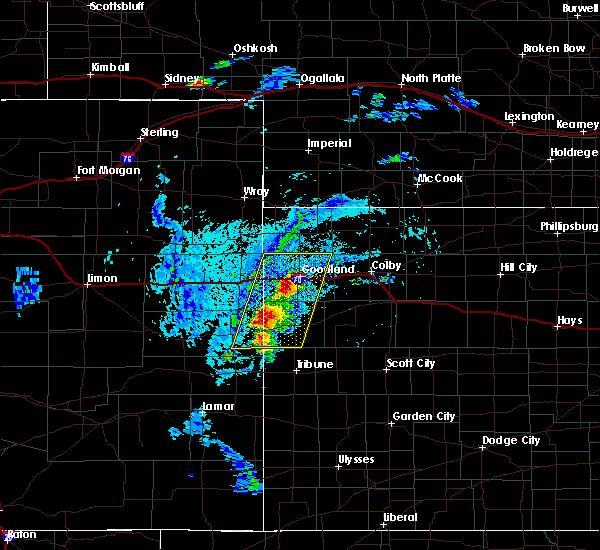 Radar Image for Severe Thunderstorms near Goodland, KS at 8/8/2020 4:39 PM MDT