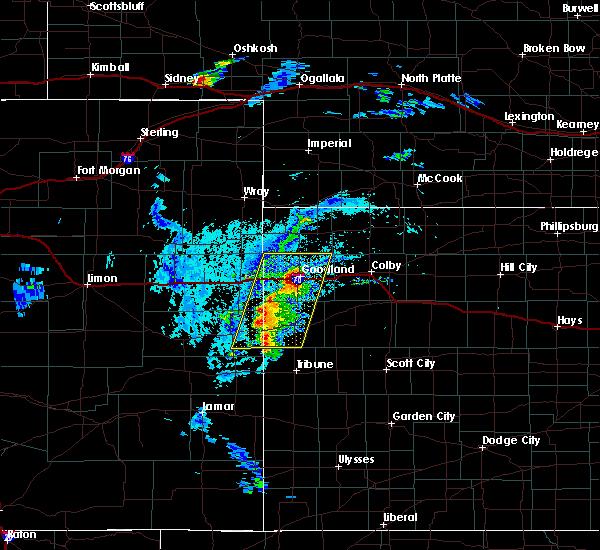 Radar Image for Severe Thunderstorms near Goodland, KS at 8/8/2020 4:48 PM MDT