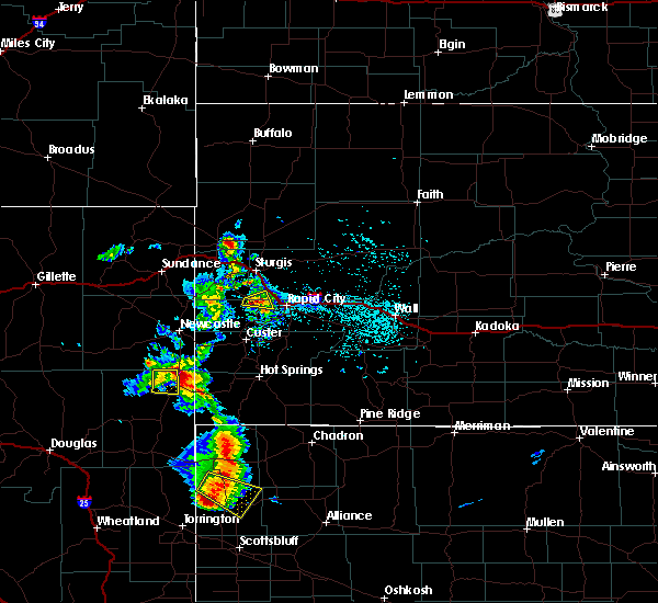 Radar Image for Severe Thunderstorms near Colonial Pine Hills, SD at 8/8/2020 5:01 PM MDT