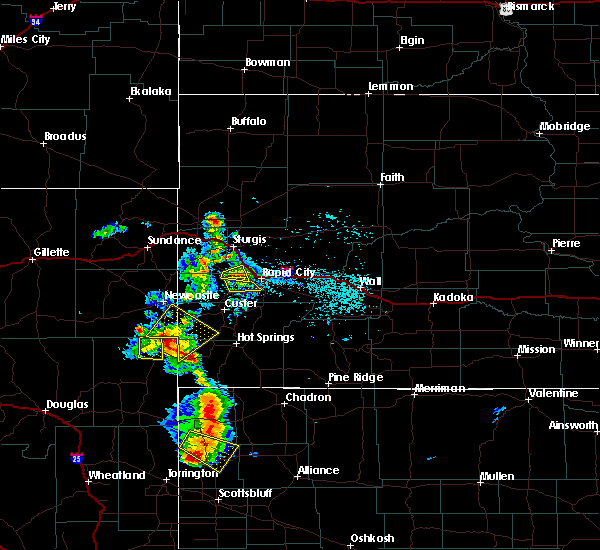 Radar Image for Severe Thunderstorms near Colonial Pine Hills, SD at 8/8/2020 5:06 PM MDT