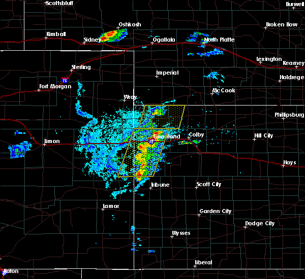 Radar Image for Severe Thunderstorms near Goodland, KS at 8/8/2020 5:13 PM MDT