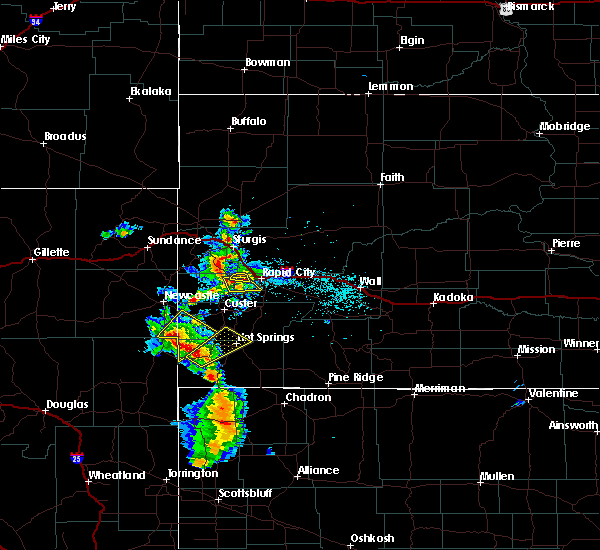 Radar Image for Severe Thunderstorms near Piedmont, SD at 8/8/2020 5:22 PM MDT
