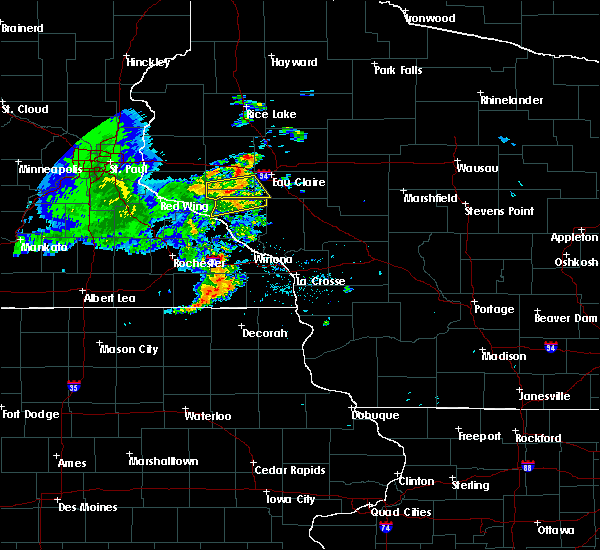 Radar Image for Severe Thunderstorms near Durand, WI at 8/8/2020 6:22 PM CDT