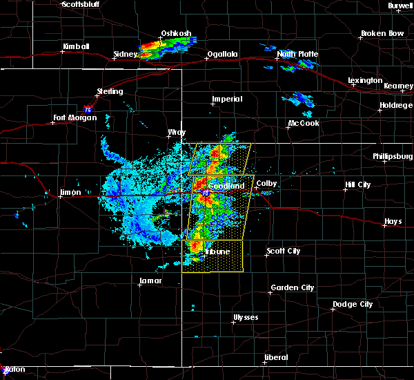 Radar Image for Severe Thunderstorms near Wallace, KS at 8/8/2020 5:33 PM MDT