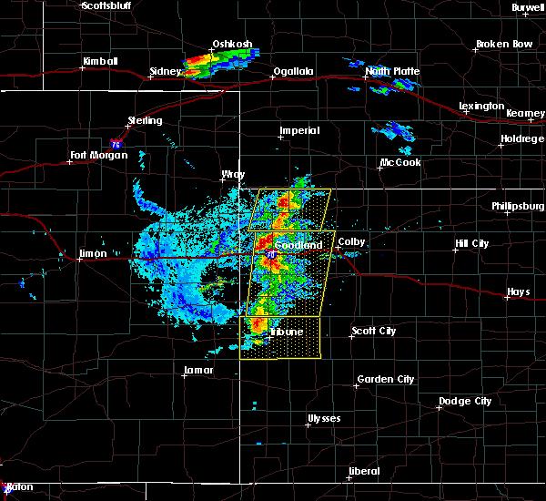 Radar Image for Severe Thunderstorms near Goodland, KS at 8/8/2020 5:33 PM MDT