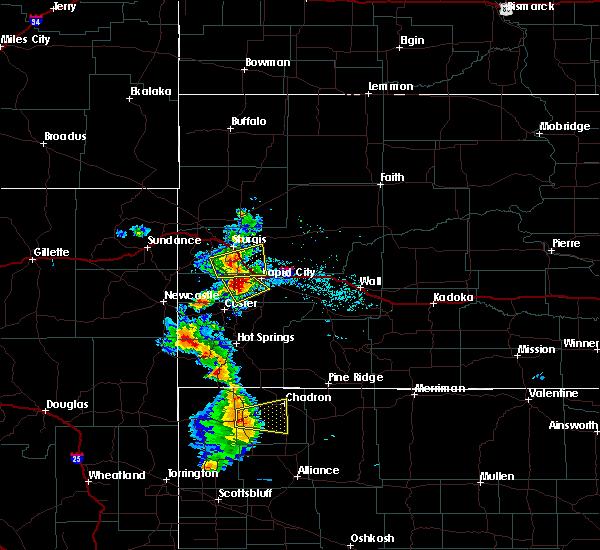 Radar Image for Severe Thunderstorms near Chadron, NE at 8/8/2020 5:36 PM MDT