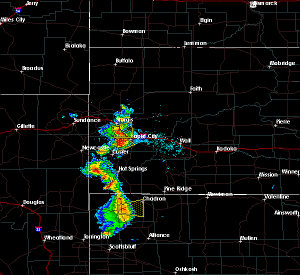 Radar Image for Severe Thunderstorms near Colonial Pine Hills, SD at 8/8/2020 5:46 PM MDT