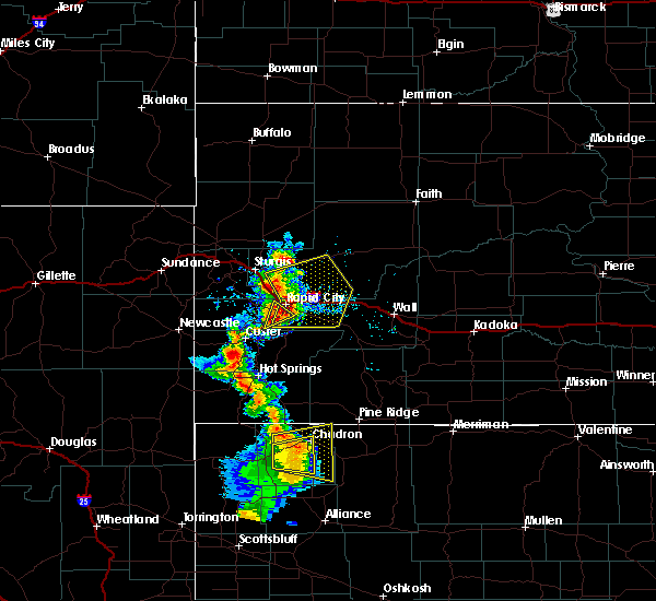 Radar Image for Severe Thunderstorms near Colonial Pine Hills, SD at 8/8/2020 6:07 PM MDT