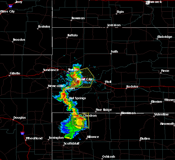 Radar Image for Severe Thunderstorms near Colonial Pine Hills, SD at 8/8/2020 6:10 PM MDT