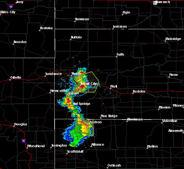 Radar Image for Severe Thunderstorms near Chadron, NE at 8/8/2020 6:11 PM MDT