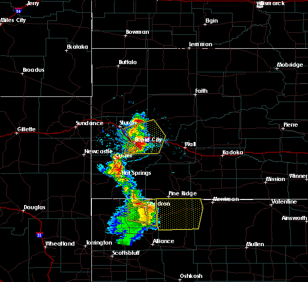 Radar Image for Severe Thunderstorms near Colonial Pine Hills, SD at 8/8/2020 6:19 PM MDT