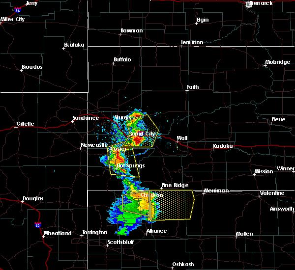Radar Image for Severe Thunderstorms near Gordon, NE at 8/8/2020 6:29 PM MDT