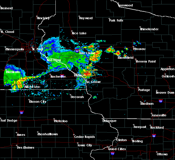 Radar Image for Severe Thunderstorms near Holmen, WI at 8/8/2020 7:39 PM CDT