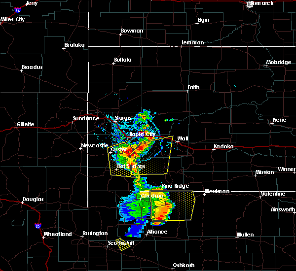Radar Image for Severe Thunderstorms near Fairburn, SD at 8/8/2020 6:49 PM MDT