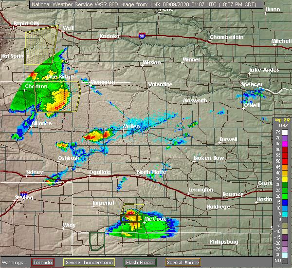 Radar Image for Severe Thunderstorms near Merriman, NE at 8/8/2020 7:17 PM MDT