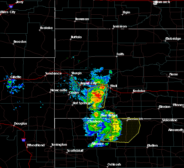 Radar Image for Severe Thunderstorms near Batesland, SD at 8/8/2020 7:29 PM MDT