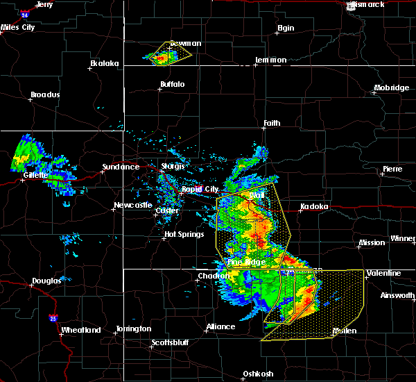 Radar Image for Severe Thunderstorms near Batesland, SD at 8/8/2020 8:12 PM MDT