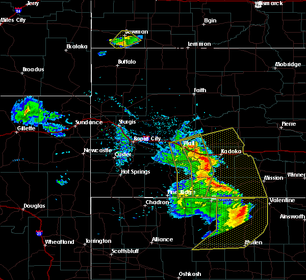 Radar Image for Severe Thunderstorms near Cottonwood, SD at 8/8/2020 8:30 PM MDT