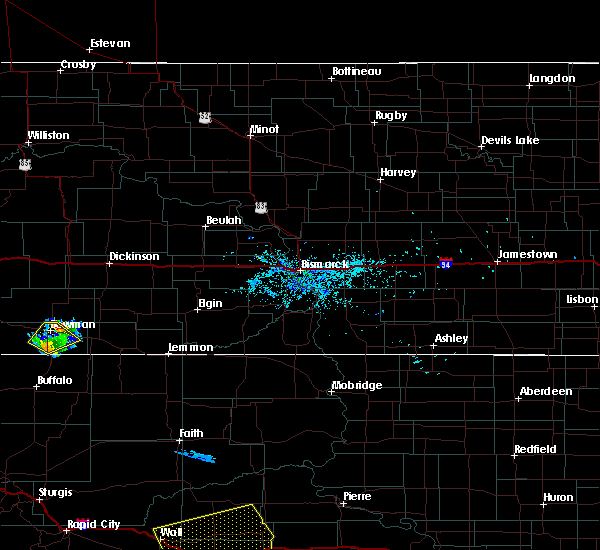 Radar Image for Severe Thunderstorms near Bowman, ND at 8/8/2020 8:41 PM MDT