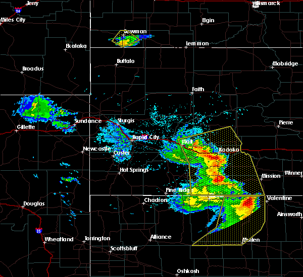 Radar Image for Severe Thunderstorms near Cottonwood, SD at 8/8/2020 8:50 PM MDT