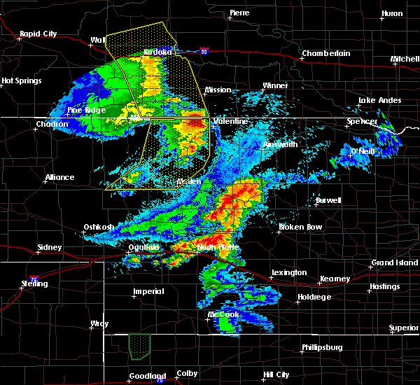 Radar Image for Severe Thunderstorms near Mission, SD at 8/8/2020 10:04 PM CDT