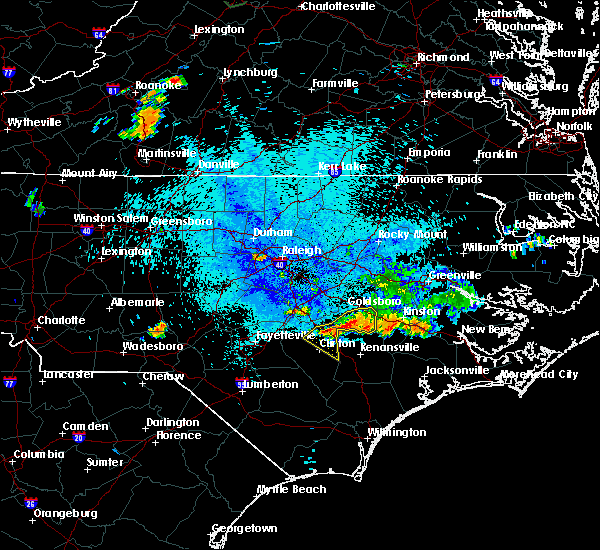 Radar Image for Severe Thunderstorms near Clinton, NC at 8/8/2020 11:16 PM EDT