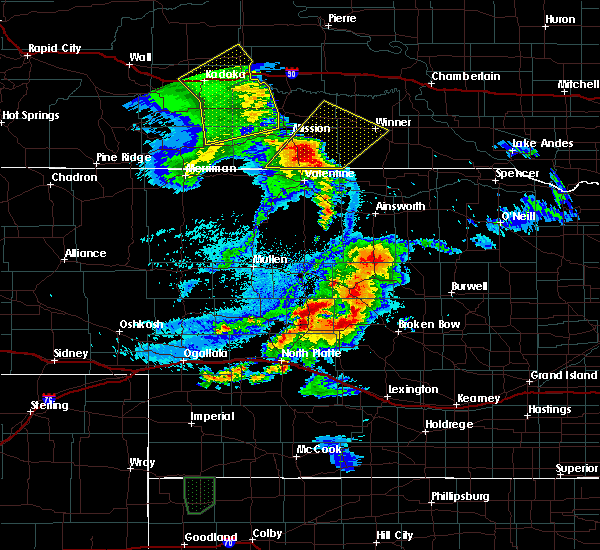 Radar Image for Severe Thunderstorms near Mission, SD at 8/8/2020 10:25 PM CDT
