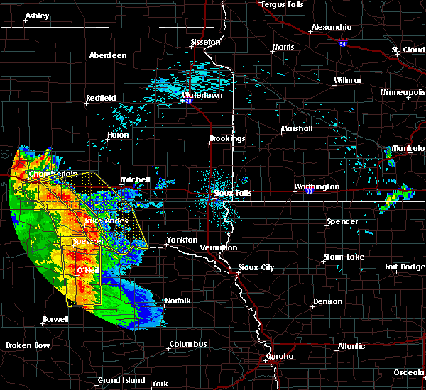 Radar Image for Severe Thunderstorms near Verdigre, NE at 8/9/2020 12:24 AM CDT