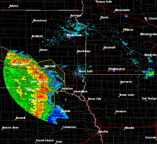 Radar Image for Severe Thunderstorms near Verdigre, NE at 8/9/2020 12:56 AM CDT