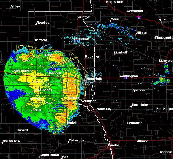 Radar Image for Severe Thunderstorms near Fedora, SD at 8/9/2020 1:55 AM CDT