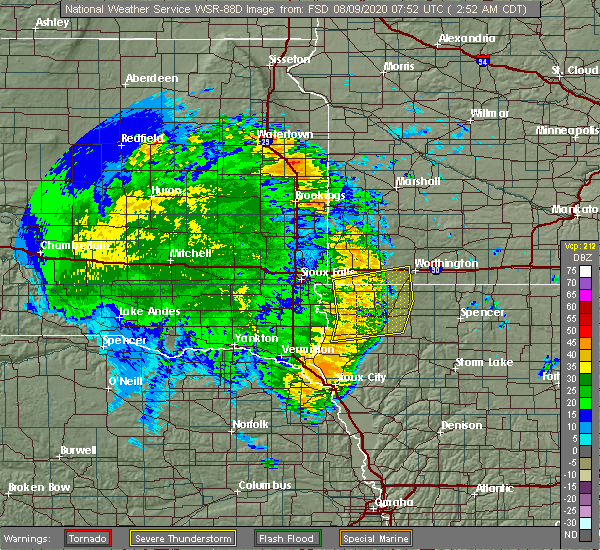 Radar Image for Severe Thunderstorms near George, IA at 8/9/2020 2:55 AM CDT