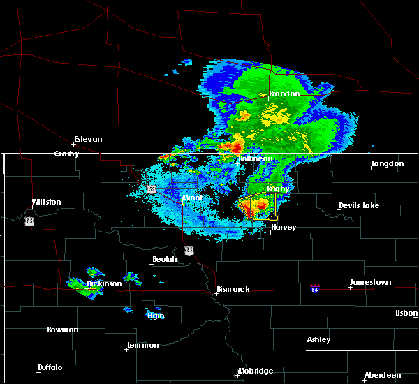 Radar Image for Severe Thunderstorms near Fort Totten, ND at 8/9/2020 6:04 AM CDT
