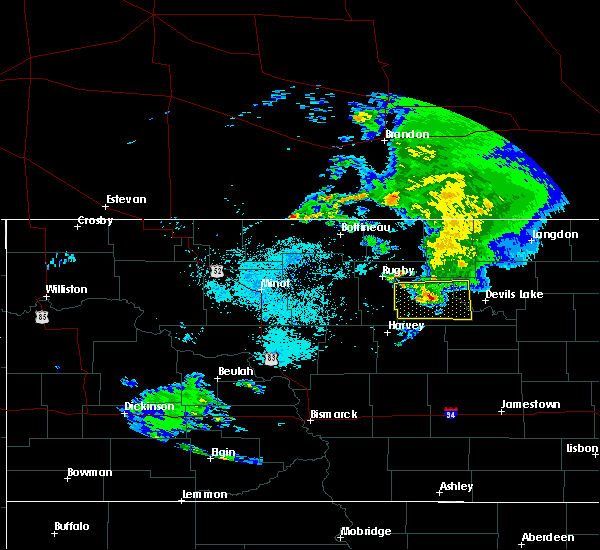 Radar Image for Severe Thunderstorms near Fort Totten, ND at 8/9/2020 6:56 AM CDT