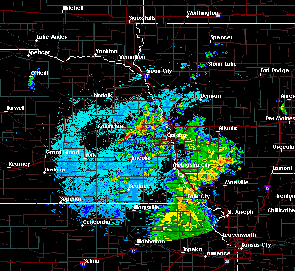 Radar Image for Severe Thunderstorms near Omaha, NE at 8/9/2020 7:29 AM CDT