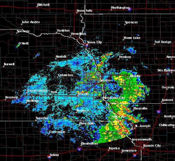 Radar Image for Severe Thunderstorms near Omaha, NE at 8/9/2020 7:54 AM CDT
