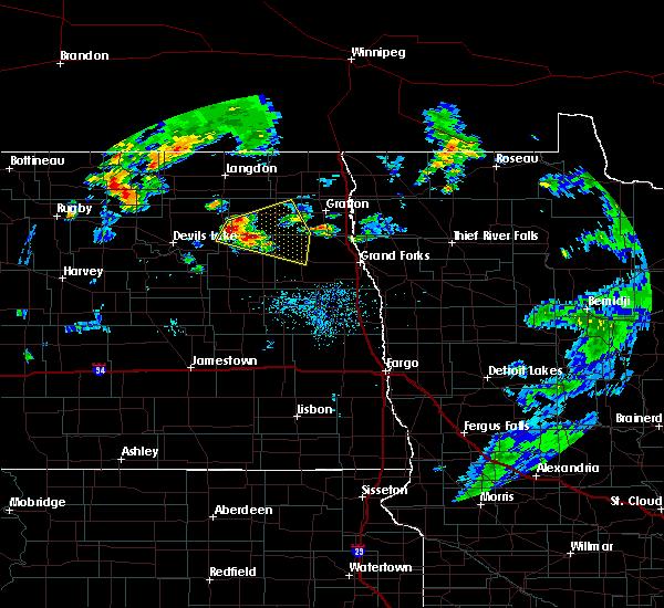 Radar Image for Severe Thunderstorms near Niagara, ND at 8/9/2020 10:15 AM CDT