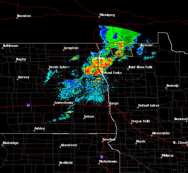 Radar Image for Severe Thunderstorms near Larimore, ND at 8/9/2020 1:42 PM CDT