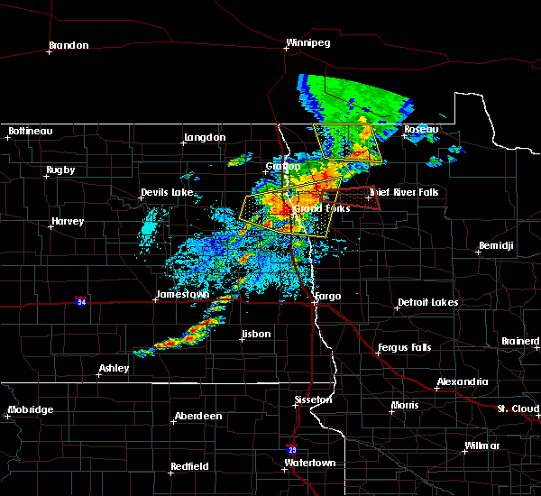 Radar Image for Severe Thunderstorms near Thief River Falls, MN at 8/9/2020 2:04 PM CDT